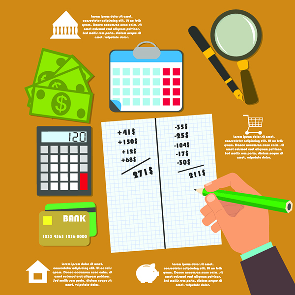 Prepare a budget to manage your finances better and repair your credit.
